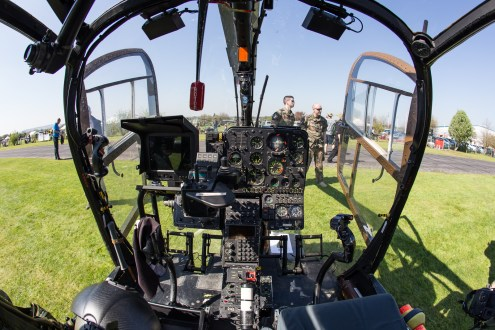 © Adam Duffield - Cockpit of French ALAT Gazelle GBI / 4072 with clearly visible Viviane camera controls - Gazelle 50th Anniversary Fly-in