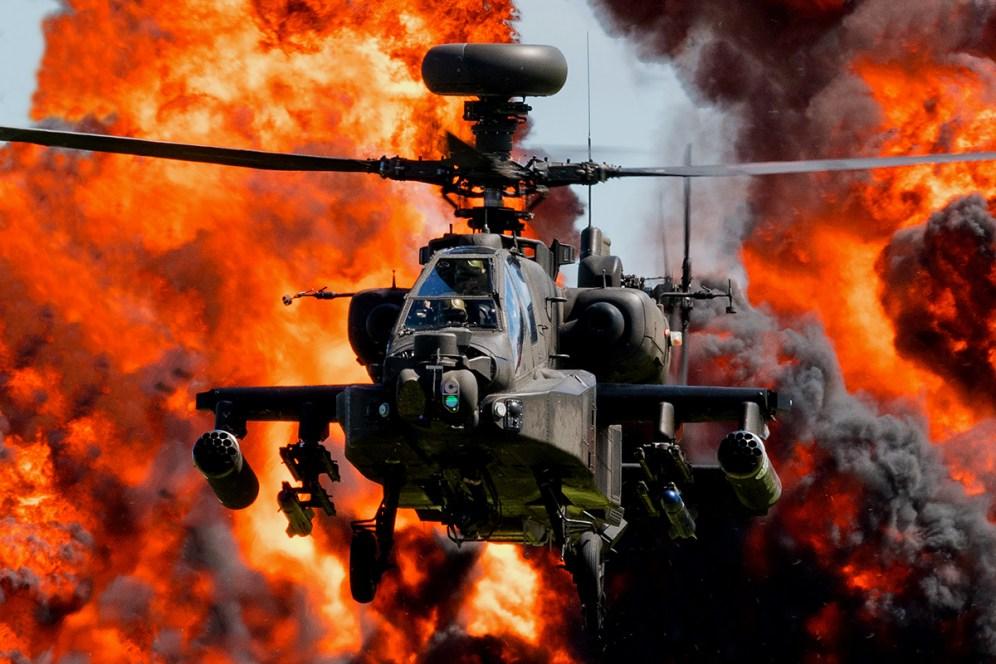 © Duncan Monk - Army Air Corps Apache AH1 - Duxford Air Festival 2017