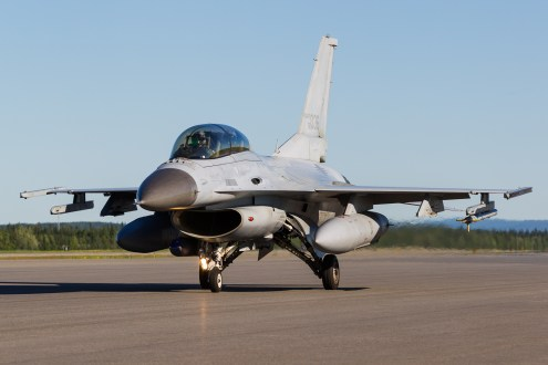 © Mark McGrath - A KF-16D-52 (92-036) from the 20th FW RoKAF taxies out during Red Flag Alaska 17-2 - Red Flag Alaska 17-2