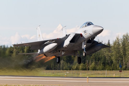 © Mark McGrath - An F-15J (72-8962) from 201 Hikotai JASDF takes off from Eielson AFB during Red Flag Alaska 17-2 - Red Flag Alaska 17-2