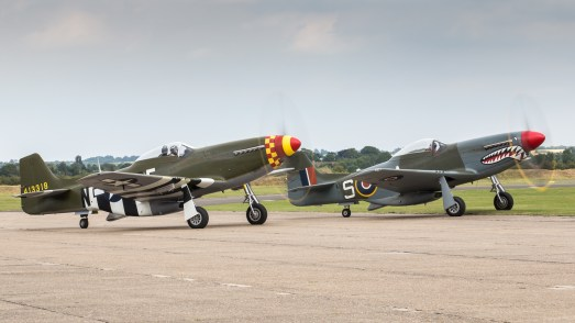© Adam Duffield - The Horsemen holding for their display slot - Flying Legends 2017