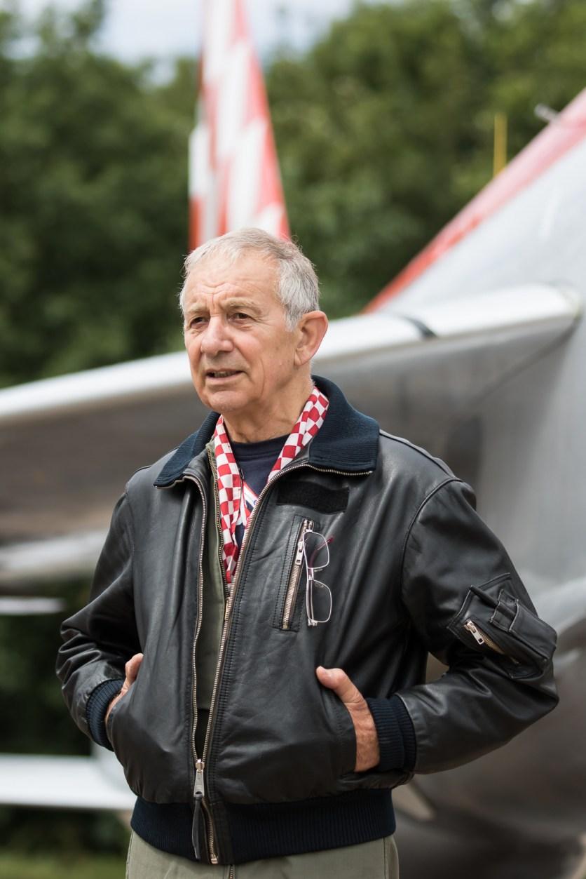 ©Adam Duffield - ex-56 Sqn Lightning pilot John Ward - Lightning XR713 56 Sqn scheme unveiling
