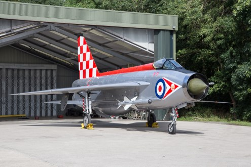© Adam Duffield - English Electric Lightning F3 XR713 56 Sqn markings representing XR718 - Lightning XR713 56 Sqn scheme unveiling