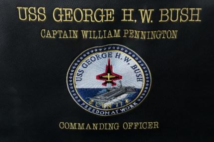 © Duncan Monk - Captains Chair USS George H W Bush CVN 77 - USS George H W Bush CVN 77