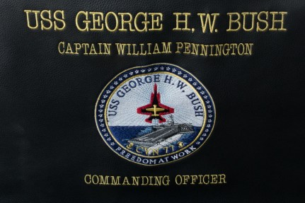 © Duncan Monk - Captains Chair USS George H W Bush CVN 77 - USS George H W Bush CVN 77