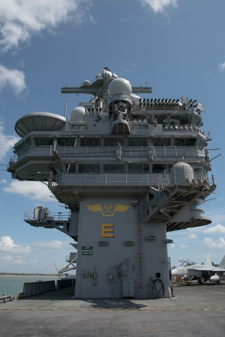 © Duncan Monk - Island and Bridge - USS George H W Bush CVN 77