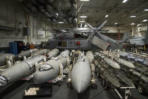 © Duncan Monk - Hangar - USS George H W Bush CVN 77