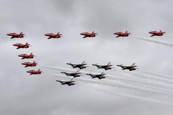 © Jamie Ewan - RAF Red Arrows with USAF Thunderbirds - Royal International Air Tattoo 2017