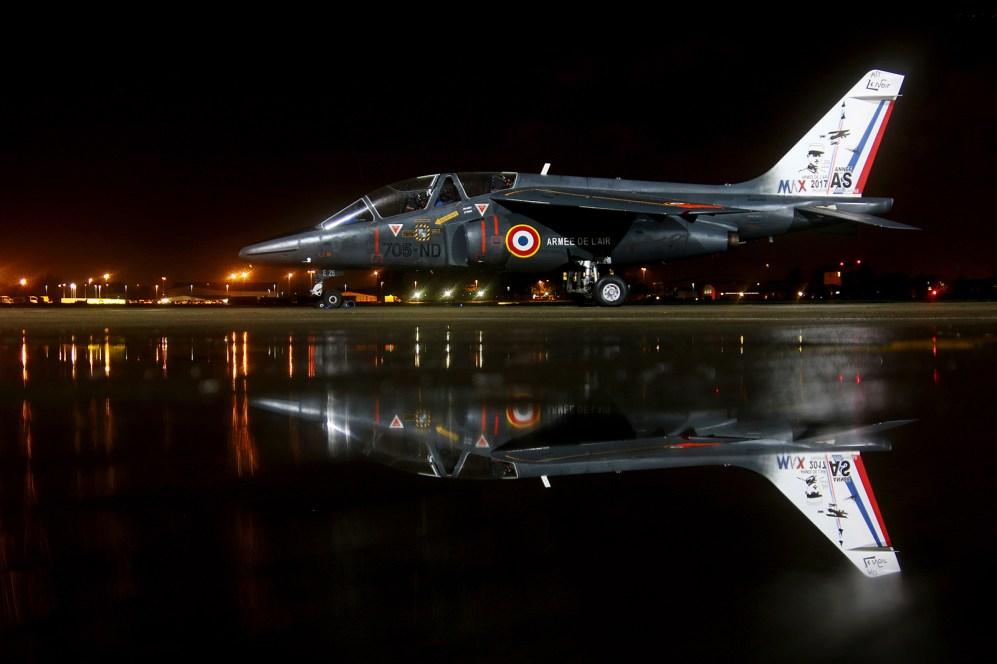 © Jamie Ewan - Armée de l'Air Alpha Jet 705-ND / E26 - Northolt Nightshoot XXIII