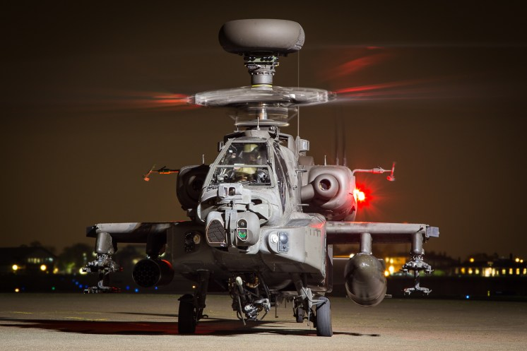 © Adam Duffield - Army Air Corps Apache AH1 ZJ225 - Northolt Nightshoot XXIII