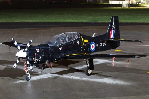 © Adam Duffield - Royal Air Force Tucano ZF377 - Northolt Nightshoot XXIII