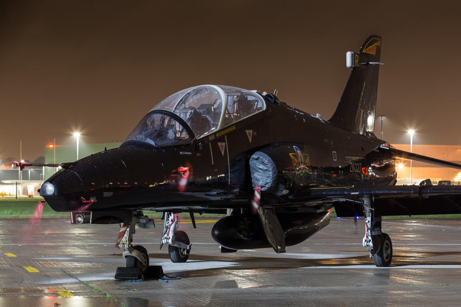 © Adam Duffield - Royal Air Force Hawk T2 ZK027 - Northolt Nightshoot XXIII