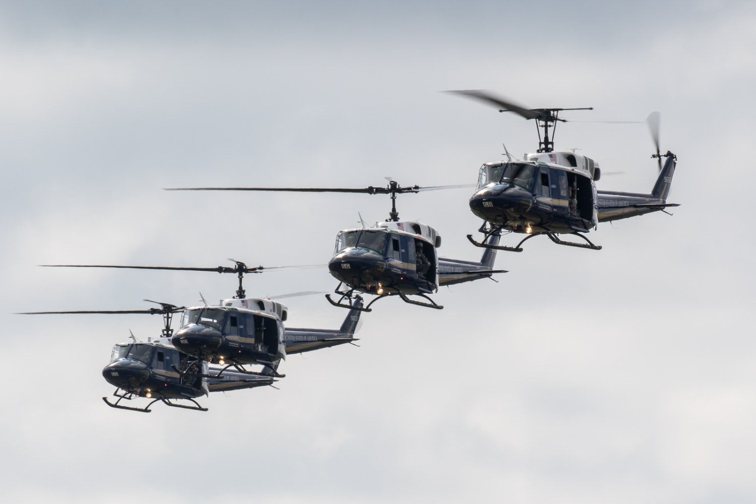 © Adam Duffield - Quartet of UH-1H's of 1st Helicopter Squadron - Joint Base Andrews Air Show 2017
