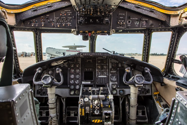 © Adam Duffield - C-2A Cockpit view - VRC-40 'Rawhides' – C-2A Greyhound