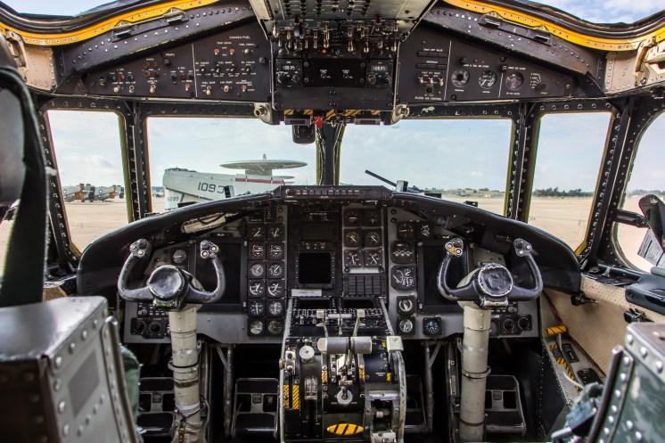 © Adam Duffield - C-2A Cockpit view - VRC-40 'Rawhides' – C-2A Greyhound