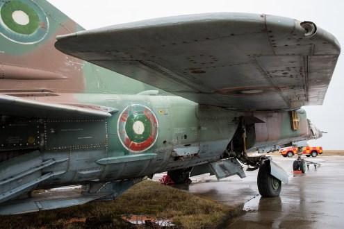 © Duncan Monk - ex-Bulgarian Air Force MiG-23BM White 61 - Jurmala Airport Air Zoo