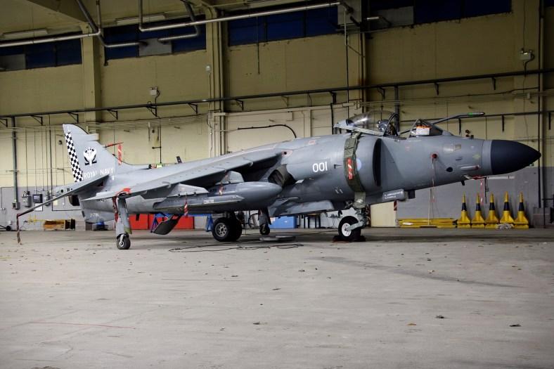 © Jamie Ewan - British Aerospace Sea Harrier FA.2 ZH796 - RAF Cosford Nightshoot