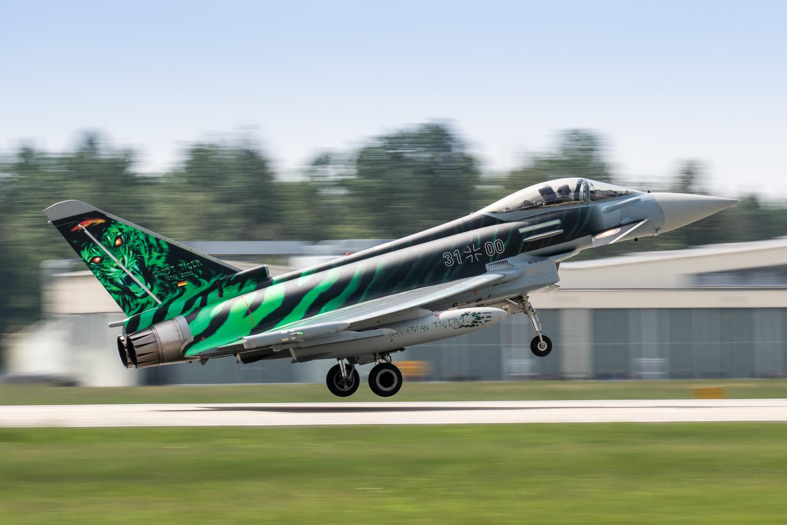 © Adam Duffield - GAF EF2000 Typhoon 31+00 'Ghost Tiger' - NATO Tiger Meet 2018