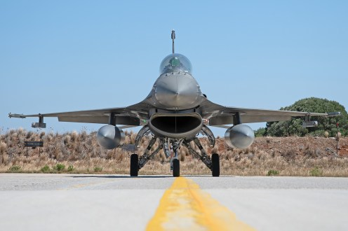 © Duncan Monk - HAF F-16C 500 Head on - 115 Combat Wing – Hellenic Air Force – Cretes Ghost Vipers
