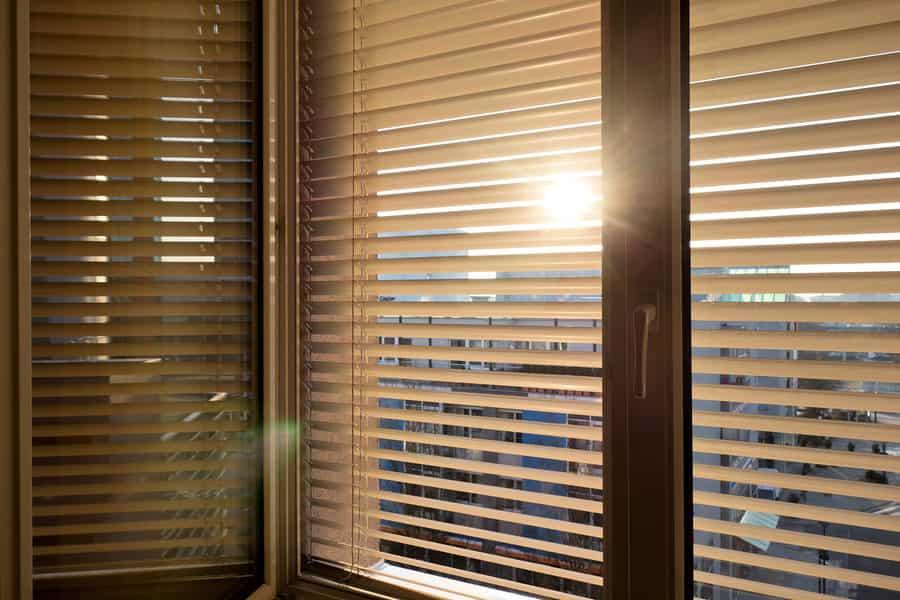 Sunlight bleeding through room