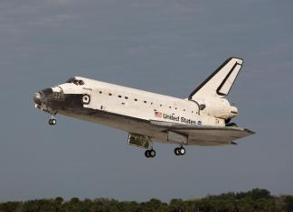 Space Shuttle Atlantis landing at KSC following STS-122 Picture