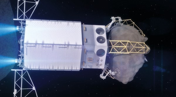 Asteroid Redirect Vehicle (ARV) departs the asteroid picture