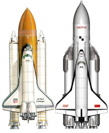 Buran Soviet Space Shuttle vs Nasa Space Shuttle