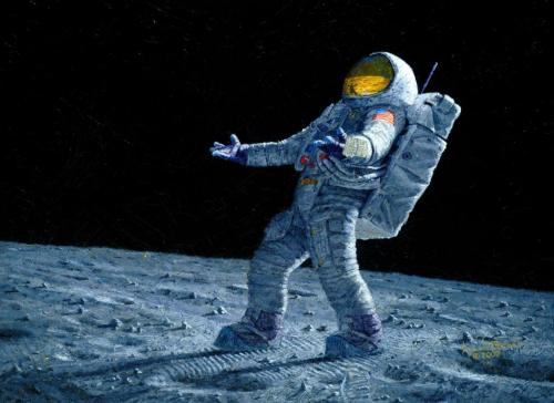 Astronaut on the Moon Picture