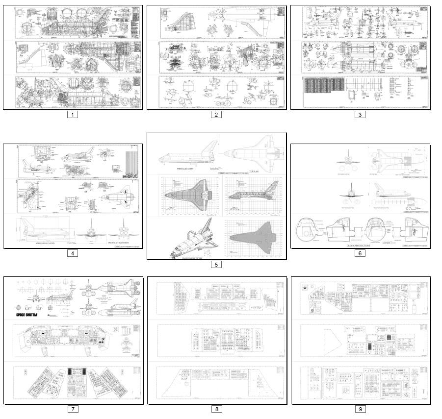 New diagrams & blueprints: Shuttle & SLS