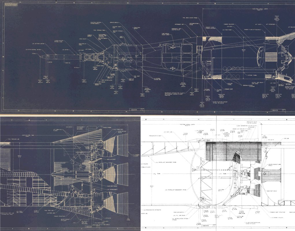 hight resolution of saturn v inboard profile