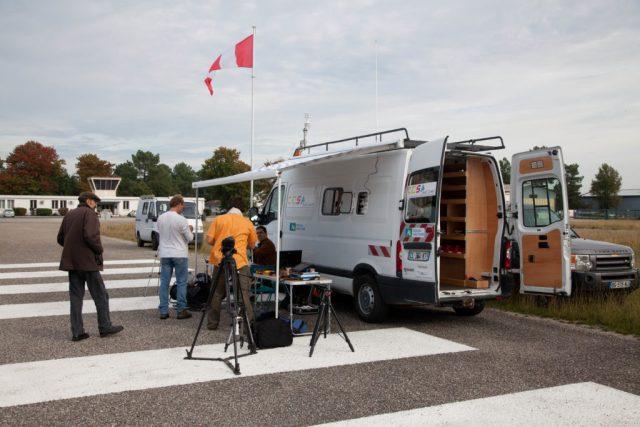 Fourgon aménagé du CESA le centre d'essais de drones situé sur le camp militaire de Souge. Crédit : Bordeaux Technowest.