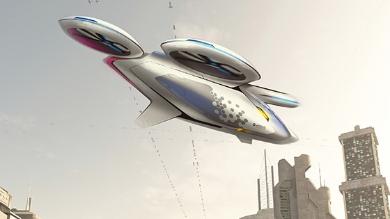 Vue d'artiste du véhicule CityAirbus. Crédit : Airbus.