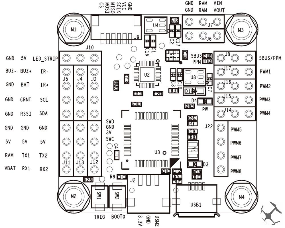 aerosurfer.OMNIBUS.PINOUT.001 omnibus f3 flight controller aerosurfer omnibus f3 wiring diagram at nearapp.co