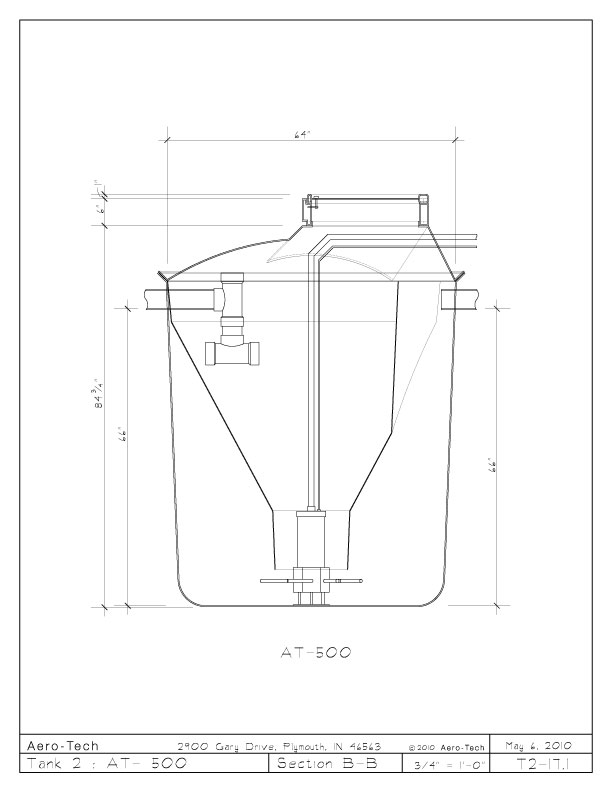 Aero-Tech :: Specifications :: AT Section B-B View