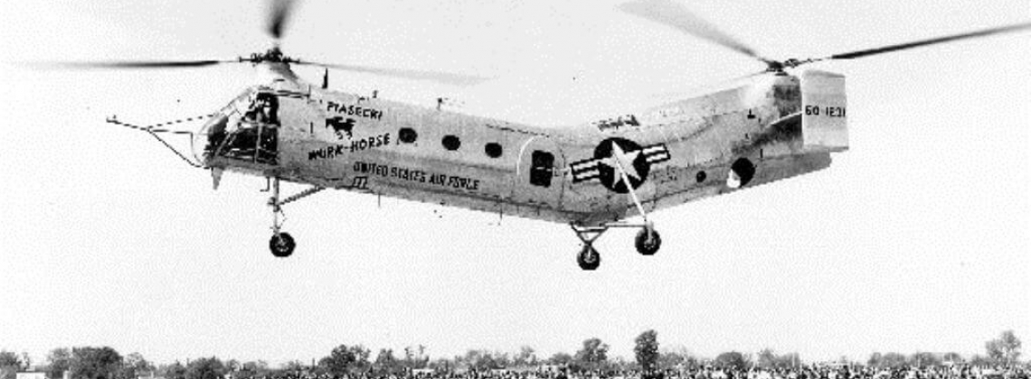 History Hour: YH-21 tandem-rotor helicopter takes first flight
