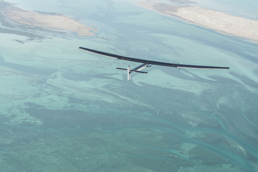 Second Test Flight of Solar Impulse 2 in Abu Dhabi, United Arab Emirates