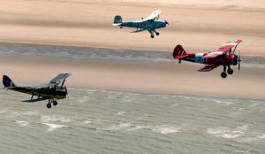 Compétition STOL sur une plage belge