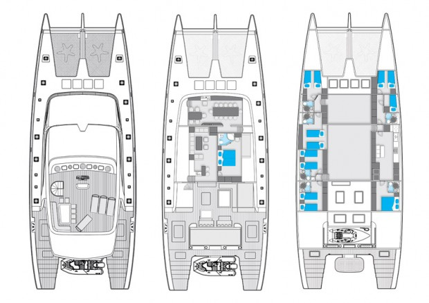 102 Sunreef Catamaran Layout Sunreef Sail Catamarans NY