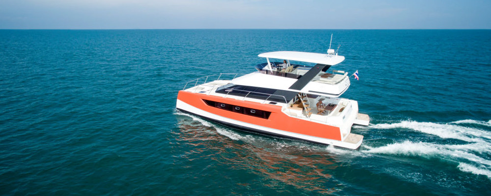 Heliotrope 48 power catamaran
