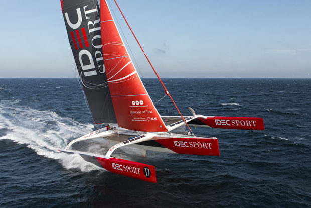 Idec Sport trimaran Joyon around the world sailing record