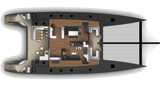 McConaghy 90 Multihull Main Deck Layout