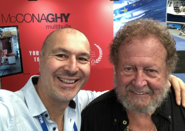 Gregor Tarjan, founder Aeroyacht with Bob Bitchin of Cruising Outpost Magazine