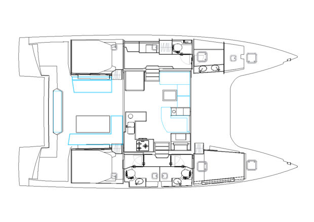 New Nautitech 46 Open Owner Version Interior