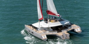 Neel 65 Trimaran sailing multihull interior and exterior photos