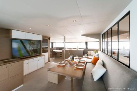 Neel 65 Trimaran sailing multihull interior and exterior photos