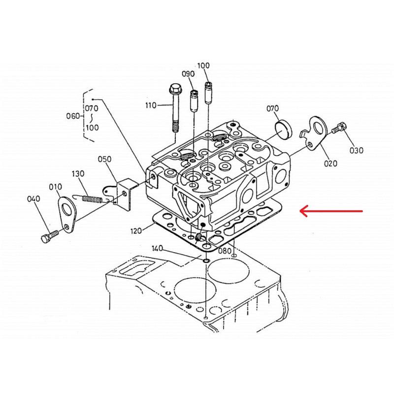 K168510331 CYLINDER HEAD GASKET KUBOTA Z482 AIXAM