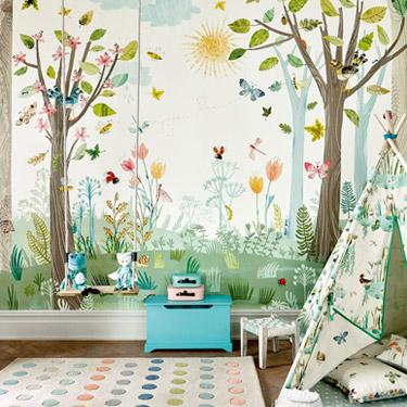 Molto popolari sono le tappezzerie a strisce nelle camerette per bambini e in camera da letto. Carta Da Parati Per Bambini Tutte Le Collezioni Aerree