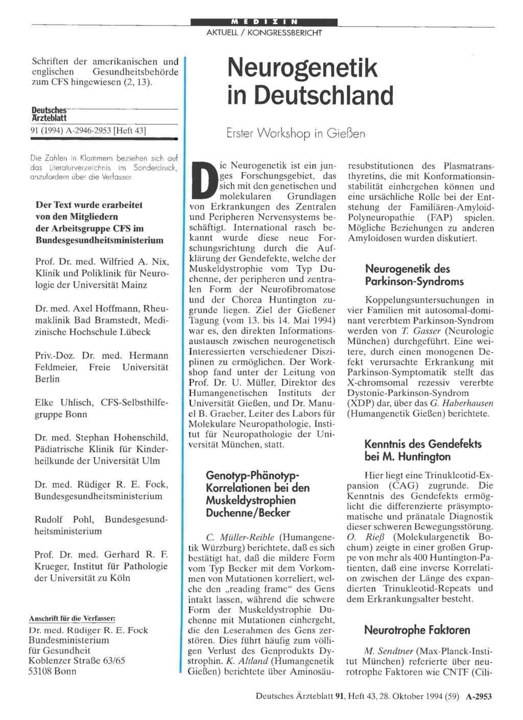 Deutsches Ärzteblatt: Archiv Treffer