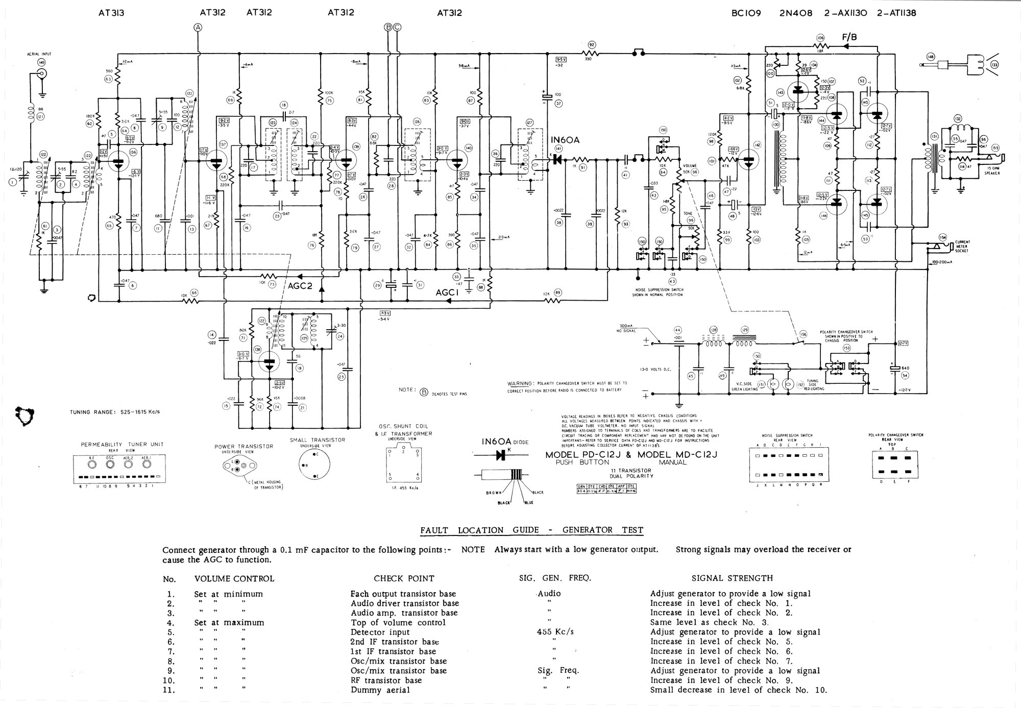 hight resolution of 1967 gm air chief pd c12j md c12j car radio circuit board
