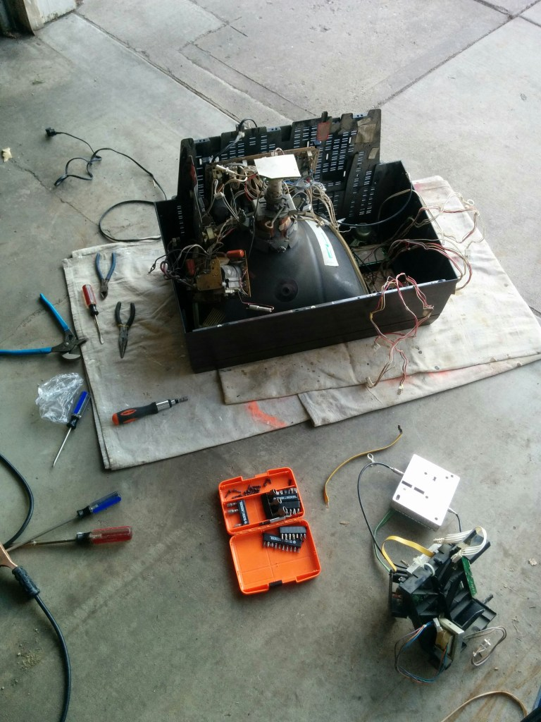 Gutting and discharging the television.